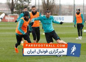 تمرین گلزنی بازیکنان رئال مادرید