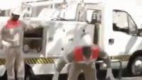 کلیپی تماشایی از روپایی زدن یک کارگر خدماتی به کلاه ایمنی