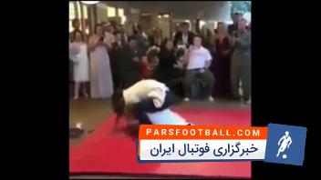 عجیب از یک مراسم عروسی که تبدیل به مسابقه ی کشتی