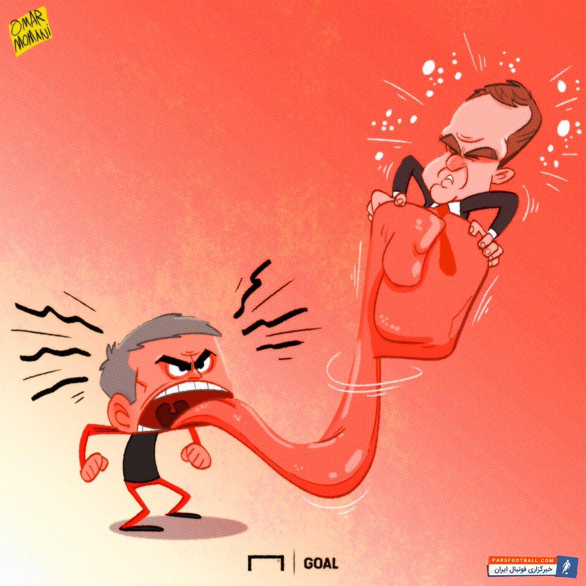 مورینیو سرمربی تیم  منچستریونایتد جواب انتقاد تند دی بوئر به خودش را داد