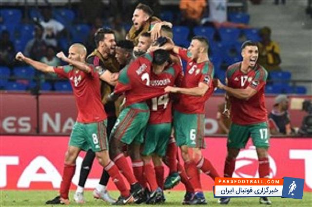 تیم ملی مراکش ؛ تصویری از رختکن تیم ملی مراکش برای دیدار فردا با تیم ملی ایران