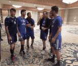 بازیکنان تیم ملی فوتبال ایران ساعتی پس از حضور در تونس در هتل محل اقامت خود به تمرین ریکاوری پرداختند. در این تمرین پرنشاط بازیکنان با استفاده از رول و تشک و همچنین توپهای اسفنجی بدنهای خود را برای تمرینات روزهای آینده و همچنین دیدار دوستانه با تیم تونس آماده کردند.