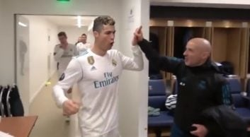 شادی بازیکنان رئال مادرید پس از شکست پاریسی ها