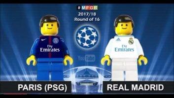 شبیه سازی بازی پاری سن ژرمن و رئال مادرید با لگو