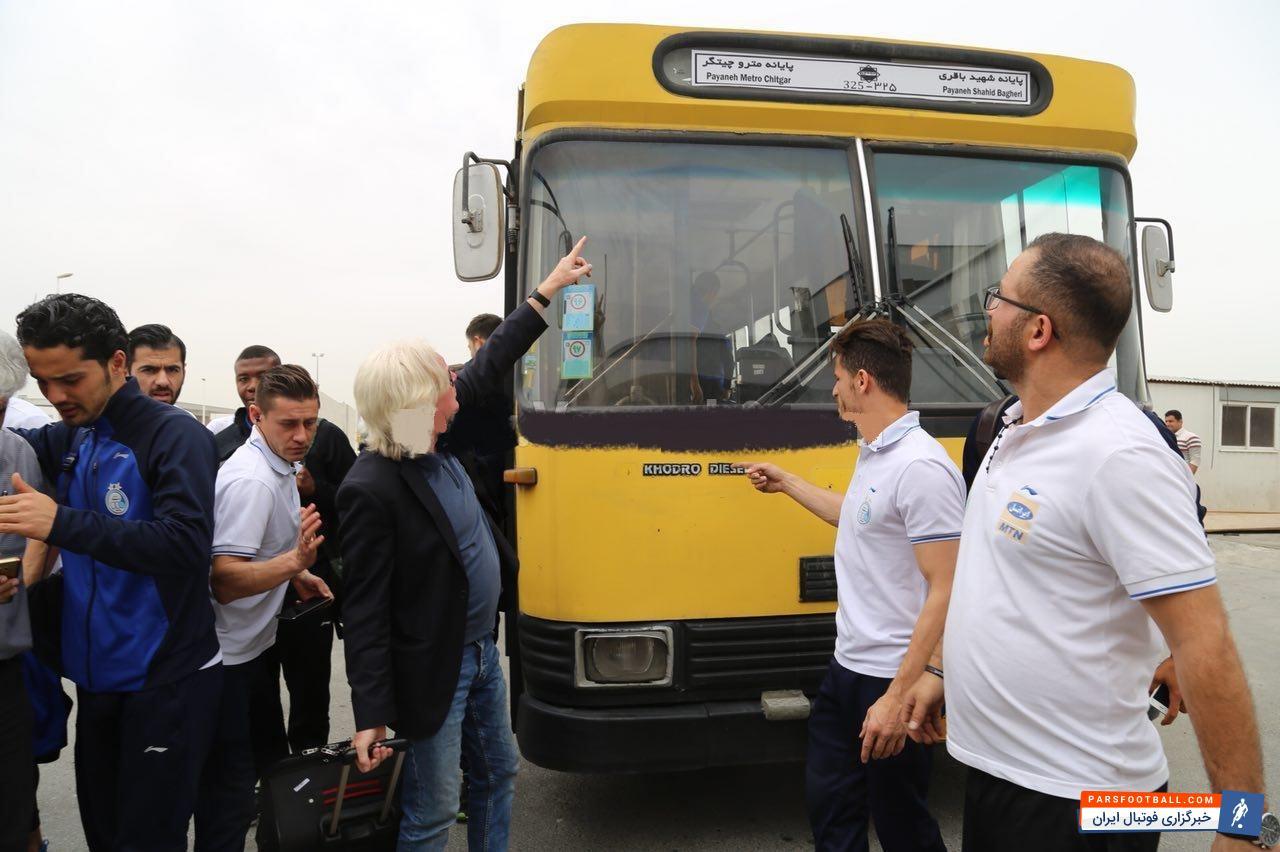 عکس ؛ اتفاق عجیب برای استقلالی ها در راه رفتن به فرودگاه امام خمینی