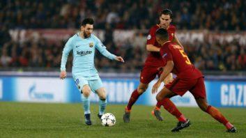 بارسلونا در دیدار برابر رم شکست خورد و از لیگ قهرمانان اروپا حذف شد