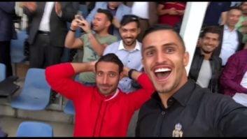 واکنش جالب علیپور و خلیل زاده بعد از گل ششم نساجی به راهآهن و صعود به لیگ برتر
