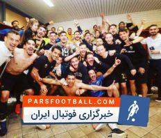 خوشحالی مسعود شجاعی و بازیکنان تیم آ ا ک پس از قهرمانی در سوپرلیگ یونان