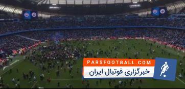هجوم هواداران منچسترسیتی به داخل زمین برای جشن قهرمانی