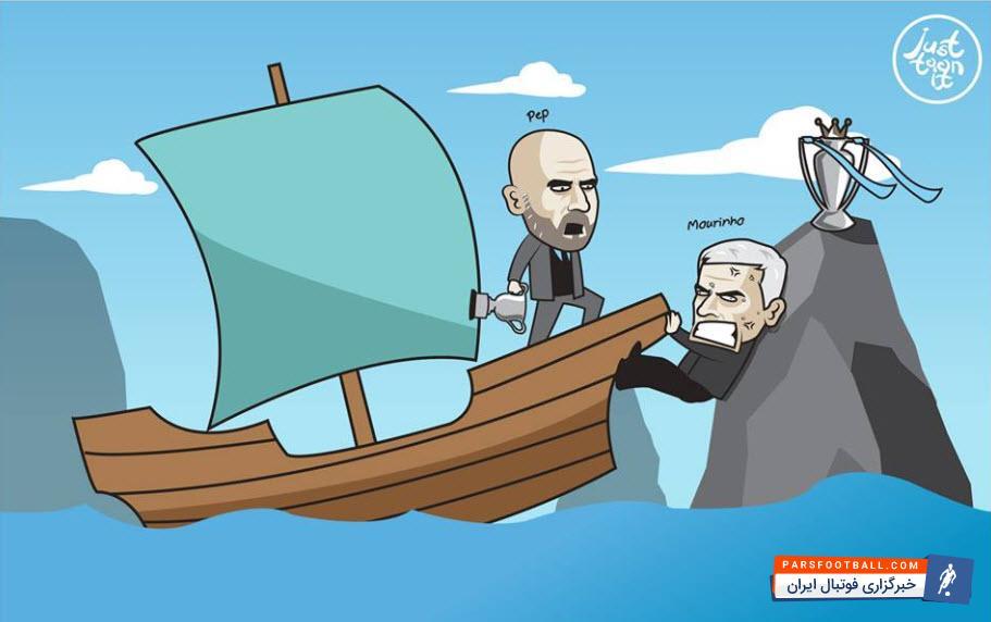 عکس ؛ کاریکاتور ؛ آخرین تلاش آقای خاص برای به تاخیر انداختن قهرمانی شاگردان گواردیولا