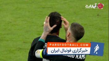 ورود جیمی جامپ و شکستگی سر واران در پایان بازی رئال مادرید