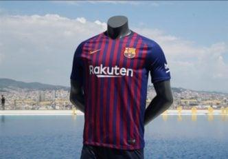 رونمایی از پیراهن جدید بارسلونا با پهپاد!