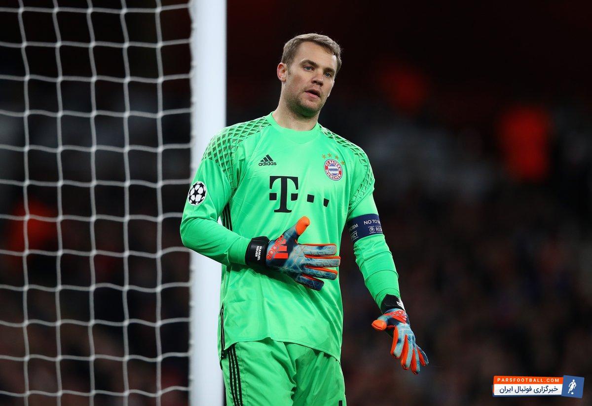 مانوئل نویر گلر تیم ملی آلمان، بعد از مدت طولانی به دلیل مصدومیت، به ترکیب بایرن مونیخ بازگشت