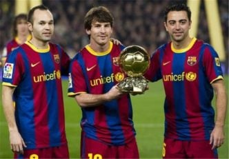 بزرگترین مثلث فوتبال ؛ مسی ،ژاوی ،اینیستا