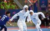 کارلوس کیروش، اعضای کادر فنی و بازیکنان تیم ملی فوتبال ایران، قهرمانی تیم ملی فوتسال زنان ایران در آسیا را تبریک گفتند.