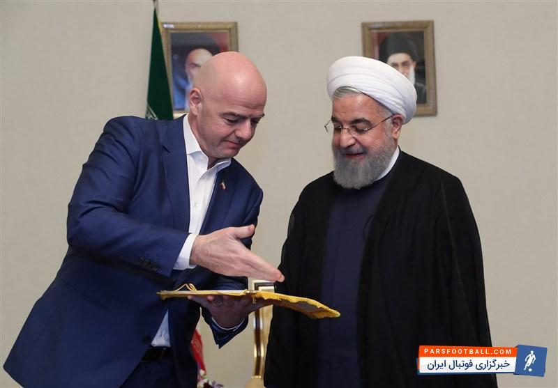 حسن روحانی پیروزی ملی پوشان را جشن گرفت ؛ پارس فوتبال ؛ خبرگزاری فوتبال ایران