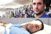 نود ؛ وضعیت اسماعیل بهداروند هوادار استقلال که یک چشمش را از دست داده است