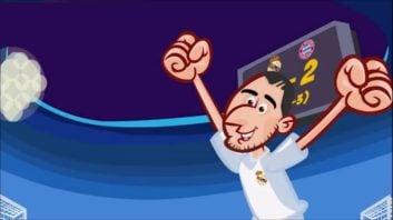 انیمیشن جالب از مسیر صعود تیم فوتبال رئال مادرید به فینال لیگ قهرمانان اروپا