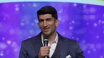 آوازخوانی بیرانوند در برنامه تلویزیونی