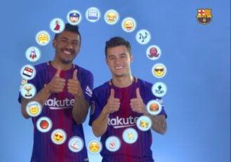 کوتینیو و پائولینیو در چالش انتخاب اموجی برای هم تیمی هایشان در بارسلونا شرکت کردند