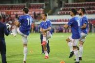 احسان حاج صفی هافبک دونده و تکنیکی تیم ملی فوتبال کشورمان علیرغم بازی خوبی که انجام داد، یک فرصت طلایی را به گل بدل نکرد.