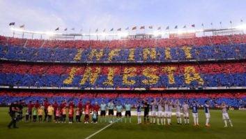 آخرین کاپیتانی اینیستا و تقدیر زیبای هواداران بارسلونا