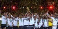 جشن قهرمانی فرانکفورت در فینال جام حذفی آلمان