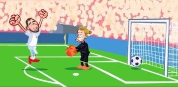 انیمیشن طنز گل اول رئال مادرید به لیورپول رو اشتبا عجیب کاریوس