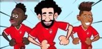 مسیر لیورپول برای رسیدن به فینال لیگ قهرمانان اروپا به روایت کارتون