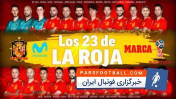 فهرست نهایی تیم ملی اسپانیا برای جام جهانی