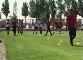 اولین تمرین تیم ملی روی چمن پیش از دیدار با ازبکستان