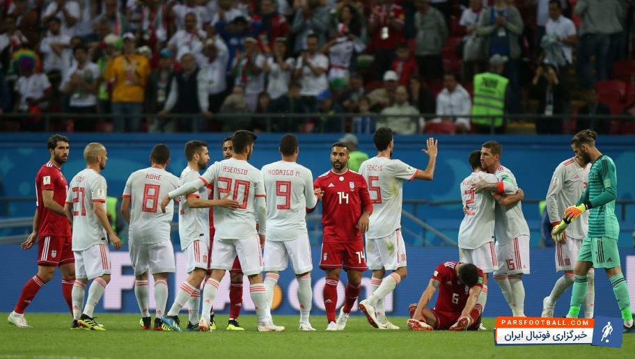 تیم ملی ایران ؛ عکس ؛ کاریکاتور عمر مومانی در خصوص اتفاقات بازی ایران و اسپانیا