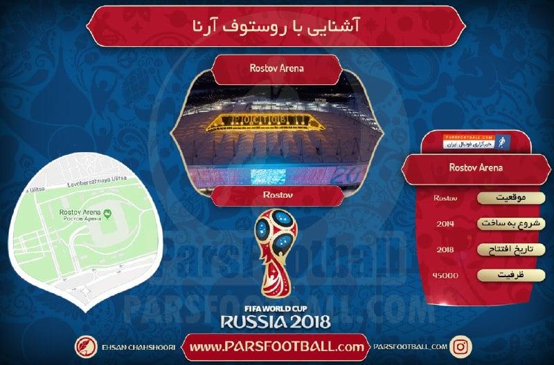 ورزشگاه روستوف آرنا میزبان جام جهانی