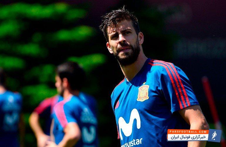 پیکه با انتشار توییتی امیدواری خود به وضعیت تیم ملی اسپانیا را نشان داد
