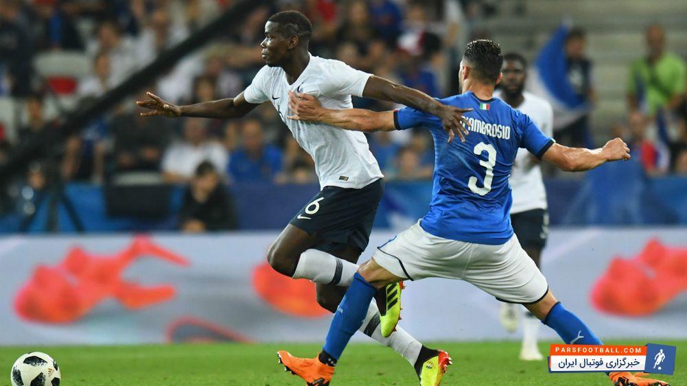 پل پوگبا ؛ هو شدن پوگبا در بازی تیم ملی فرانسه برابر ایتالیا ؛ خبرگزاری فوتبال ایران
