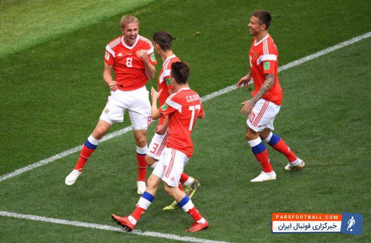 گازینسکی به کتاب تاریخ جام جهانی پیوست ؛ ستاره روسیه با گلزنی مقابل عربستان تاریخ ساز شد!