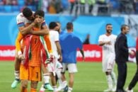 خانزاده و علیرضا بیرانوند در تیم ملی فوتبال ایران در جام جهانی