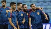 فرناندو هیرو در کنفرانس خبری پیش از دیدار برابر ایران می گوید که دنی کارواخال در دسترس است کارواخال می تواند از ابتدا در ترکیب این تیم حضور داشته باشد.