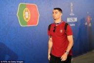 رونالدو ؛ تصویری از چهره جدید کریس رونالدو ستاره پرتغال در دیدار برابر مراکش