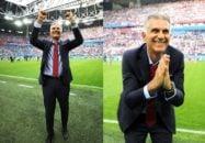 بازیکنان تیم ملی پس از شکست مراکش، در رختکن به شادی پرداختند و کی روش نیز از هواداران تشکر کرد.