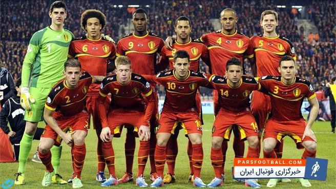 بلژیک ؛ تصویری از شابهت پیراهن تیم ملی بلژیک به جوراب طرح لوزی