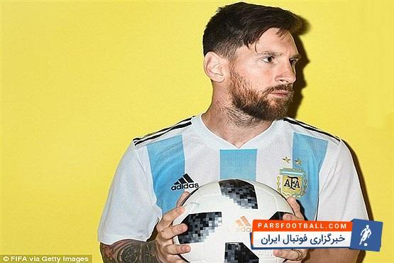 در میان همه عکسهایی که ستارههای آرژانتین گرفتند عکسهای مسی از همه جالبتر بود مسی ستارهای که در برابر دوربین فیفا فقط اخم کرد.