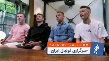 آلمان ؛ مسابقه فیفا 2018 بین توماس مولر و جاشوا کیمیچ بازیکنان ملی پوش آلمان