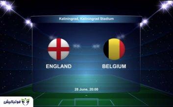 بازی انگلیس و بلژیک