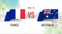 بازی تیم های فرانسه و استرالیا در جام جهانی