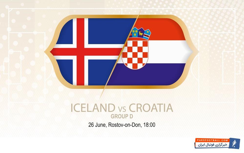 اینفوگرافی و پیش بازی تیم های ایسلند کرواسی در بازی های جام جهانی 2018 روسیه