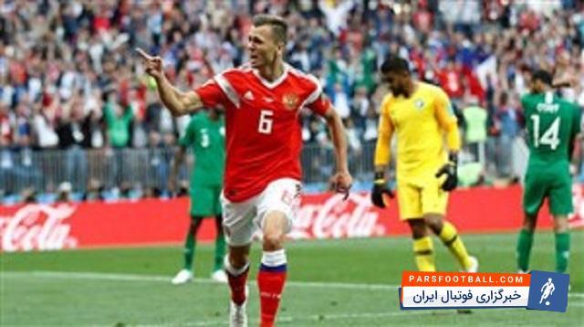 دنیش چریشف از سوی فیفا بهعنوان بهترین بازیکن بازی روسیه و عربستان معرفی شد ؛ پارس فوتبال