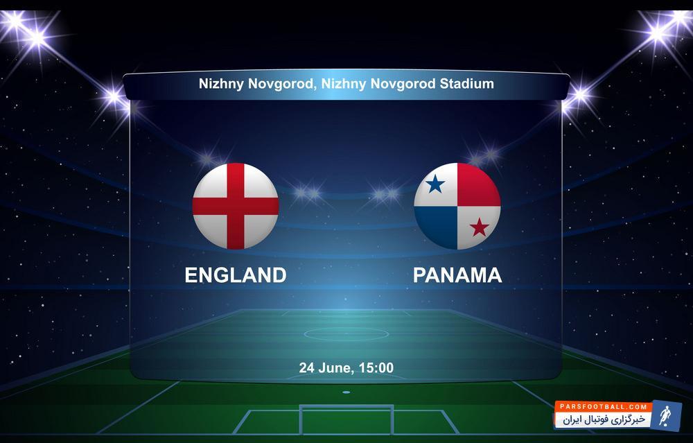 اینفوگرافی آمار پایان بازی تیم های انگلیس و پاناما در بازی های جام جهانی 2018