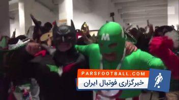 جام جهانی ؛ خوشحالی هواداران مکزیک پس از پیروزی برابر آلمان درجام جهانی