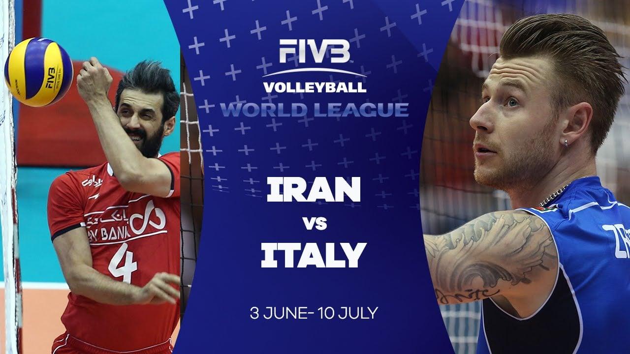 کلیپی از خلاصه دیدار تیم ملی والیبال ایران و ایتالیا در لیگ ملت های والیبال 13 خرداد 97